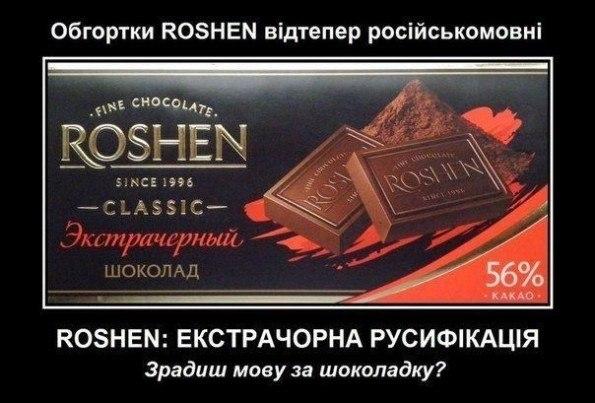 Русифікація від Рошен
