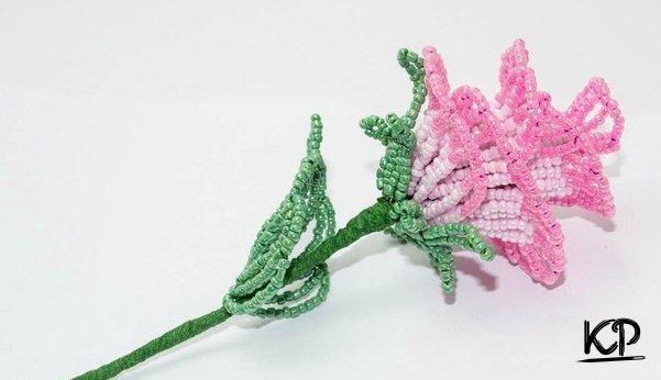 Ажурная роза из бисера (5 фото)