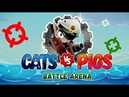 Cats vs Pigs Battle Arena android game first look gameplay español