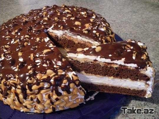Торт сникерс пошаговое фото