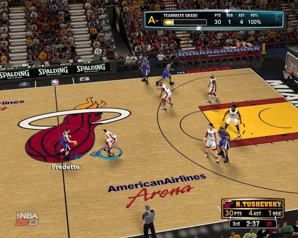 30 очков при 100% реализации бросков НБА2К13