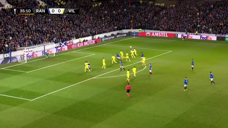 Rangers vs Villarreal (0-0) UEFA Europa League highlights