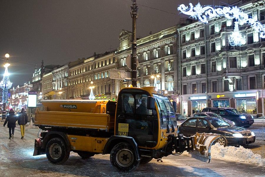 Санкт-петербург Невский проспект убирают