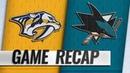 Thornton scores 400th NHL goal Sharks edge Predators