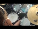 Smoke On The Water drum cover by Sina