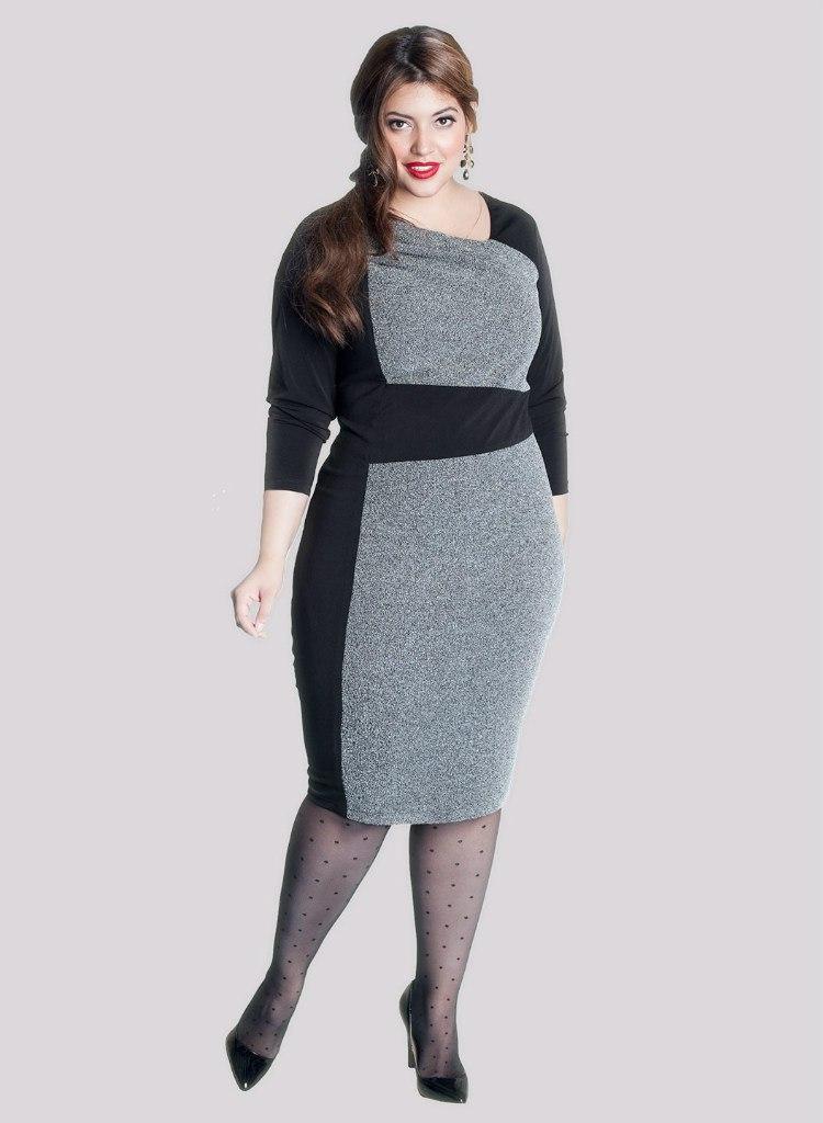 Вязаные платья модели для полных женщин