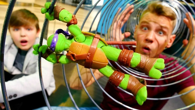 Тренировка Черепашек Ниндзя в Иннопарке! Игры для детей.