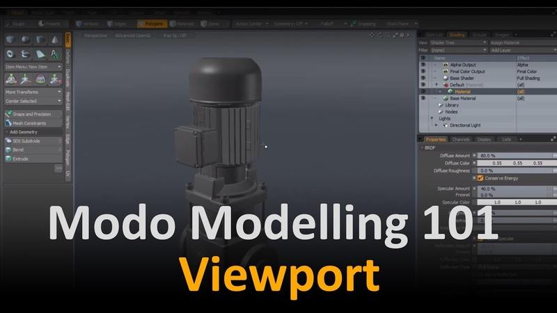 Modo Modelling Viewport Navigation