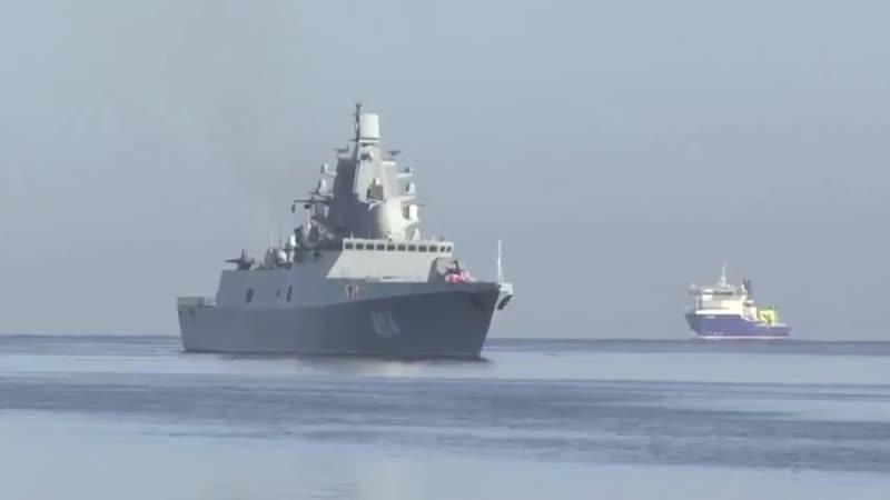 Прибытие группы кораблей ВМФ России во главе с фрегатом Адмирал Горшков в порт кубинской Гаваны.