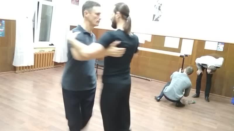 В зале после уроков. Клуб танго в Орле Contigo, 04.12.2018
