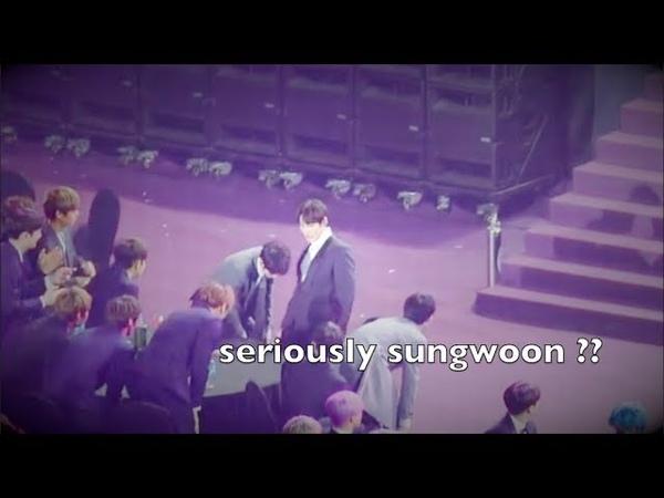 WANNA ONE SUNGWOON MOCKING iKON @2019 Seoul Music Awards