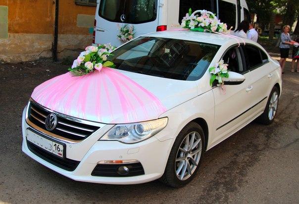 Украшение свадебной авто