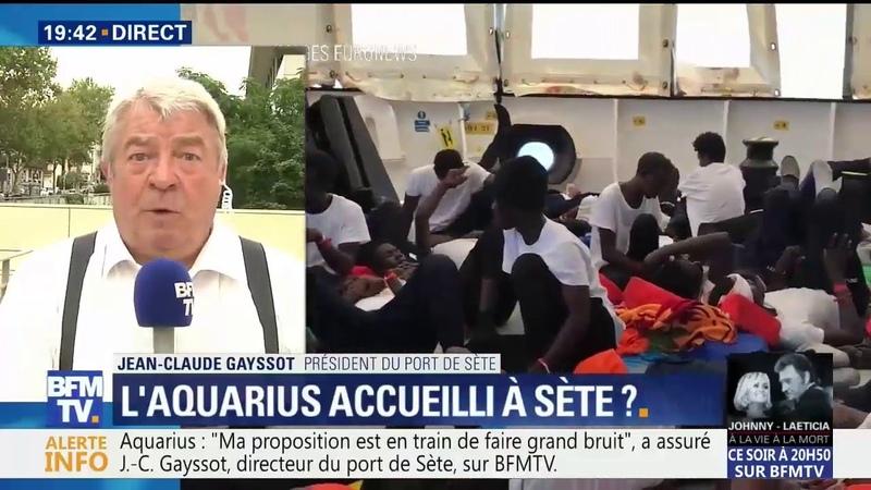 La France doit apporter une réponse le président du port de Sète propose d'accueillir l'Aquarius