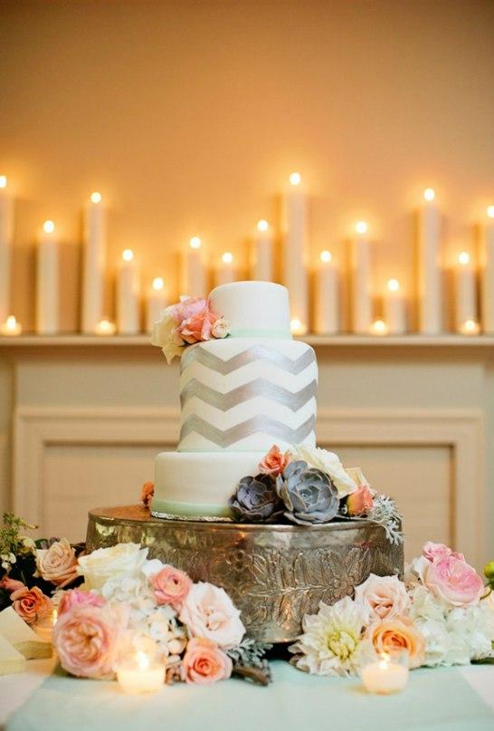 RGh yQXMgWc - Золотые и серебряные свадебные торты 2016 (70 фото)