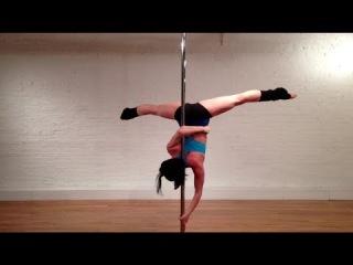 Pole dance уроки: Аиша с захватом за спиной - обучающее видео (Back Ayesha)