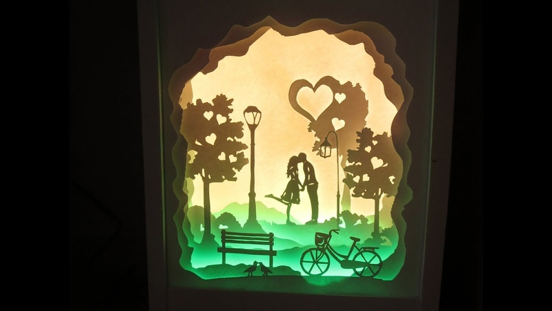 [PaperArt] How to make love at first sight lightbox papercut _ DIY