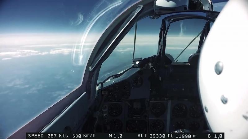 Полёт на высоте 17км Съёмка Земли ВВС России