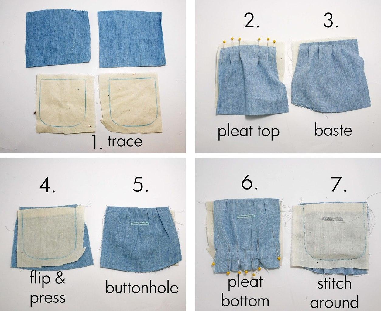 Как сшить на детские штаны карманы