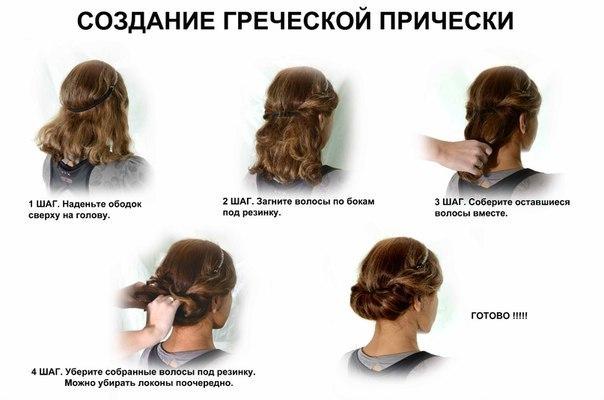 Схемы плетения кос и причёсок