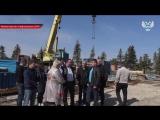 На кургане Саур-Могила ведутся работы по возведению стен будущей часовни