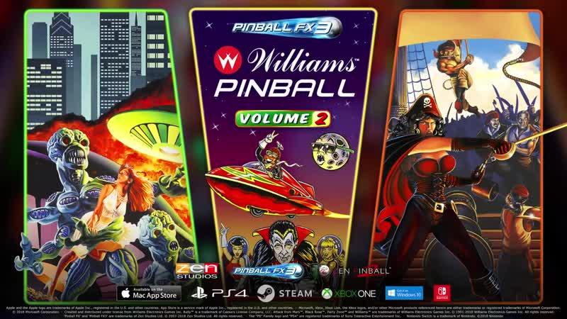 Дополнение Williams Pinball Volume 2 для игры Pinball FX3!