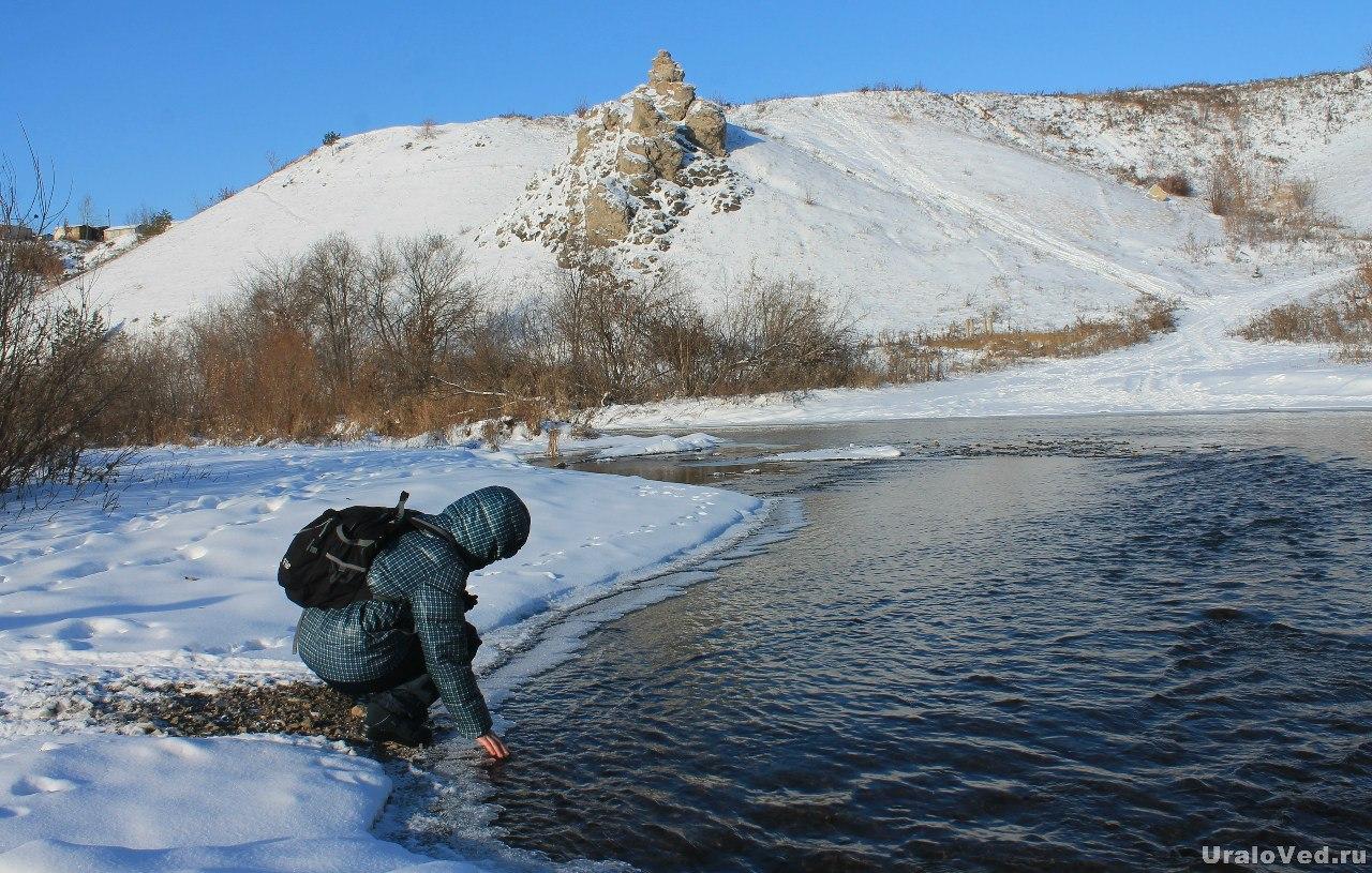 Река Каменка у скалы Богатырек