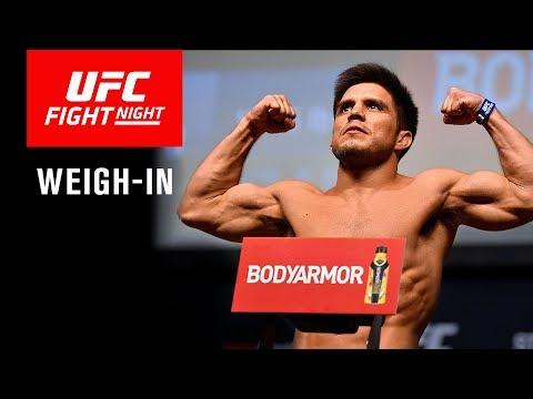 Взвешивание бойцов перед UFC on ESPN 1: Диллашоу - Сехудо