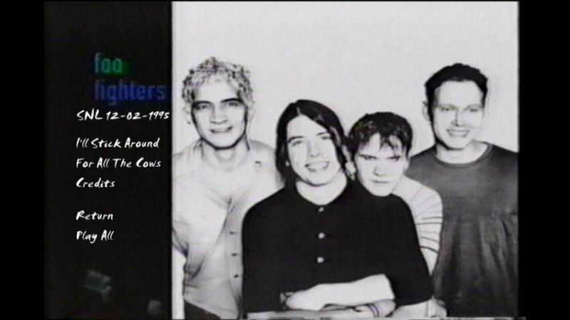 Foo Fighters 12-02-1995 (SNL) NBC Studios New York