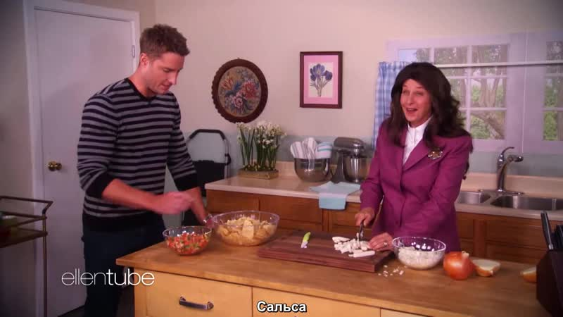 Justin Hartley in This... Is Onions on Ellen show