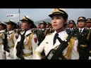 Chinese army female honor guards 2015 China's V Day Military Parade rehearsal