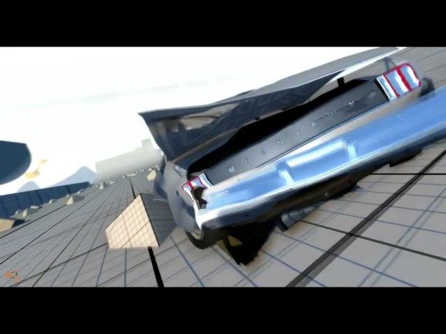 Beam NG DRIVE - Няшка с пушкой на капоте :3