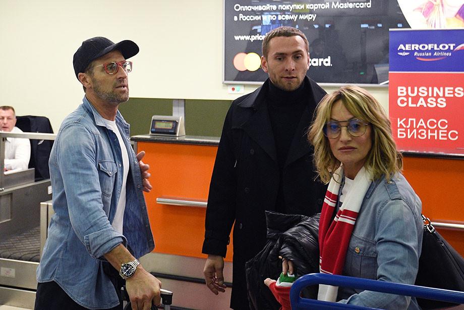 Массимо Каррера, Артем Фетисов и жена Карреры Пинни