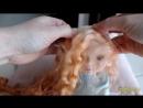 Как пришить трессы текстильной кукле
