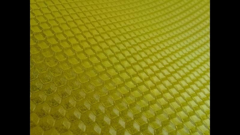 Пчеловодство Изготовление своей вощины Гладкие листы прокатка в матрице