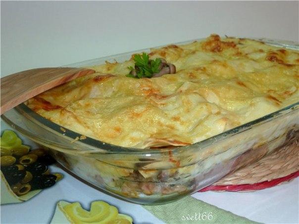 Лазанья с куриным филе рецепт с фото