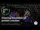 3D molecular visualisation Freezing protein solution