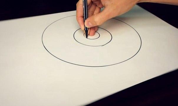 Как нарисовать идеально ровный круг при помощи одного лишь карандаша