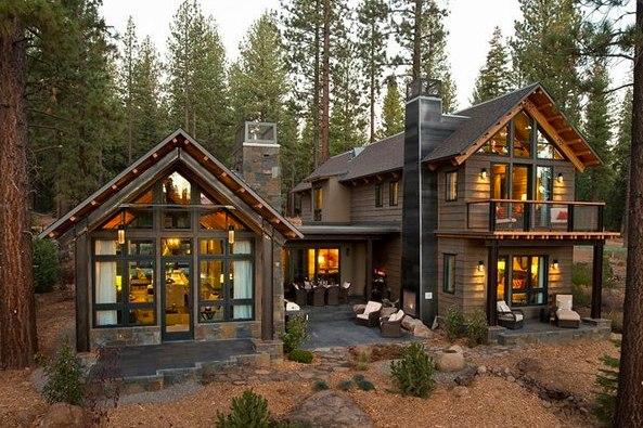 Как должна выглядеть современная дача: коттедж в лесу Сегодня мы выбрали дачей недели концептуальный дом, созданный американскими дизайнерами. Архитектурные и декоративные решения, использованные в этом проекте, отображают последние интерьерные тренды
