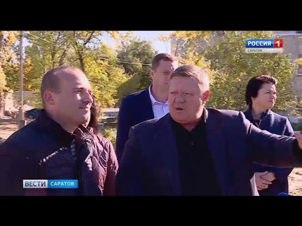 Депутат Госдумы осмотрел площадку строящегося спорткомплекса у гимназии №5