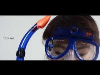 Подводная маска с встроенной видеокамерой и трубка (видео маска камера для подводного плавания и подводной съемки) 2