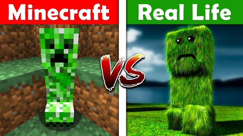 MINECRAFT CREEPER IN REAL LIFE! Minecraft vs Real Life Animation! (Season 2 - Ep. 2)