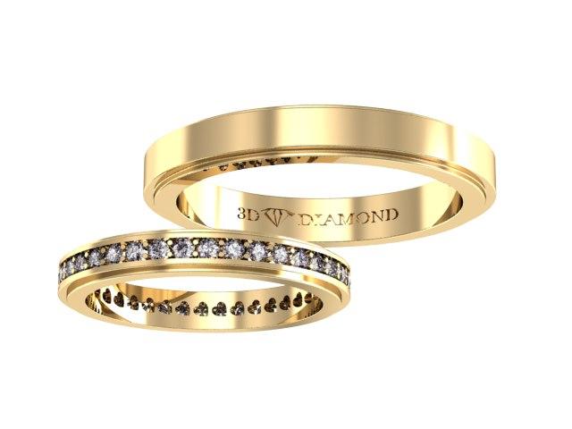 Купить кольца обручальные комплект