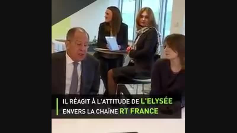 Sergueï Lavrov, chef de la diplomatie russe, visite les locaux de RT France