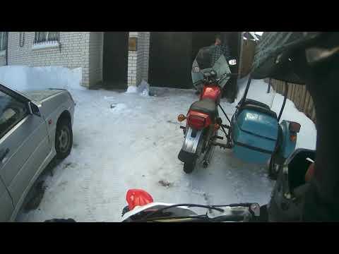 круглый год сезон на питбайке зимой