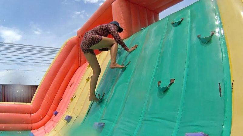 Ridiculous Balloon Water Slide at Pantai Norasingh Water Park