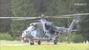 2x Mi-24 Hind Mi-171 startup and takeoff