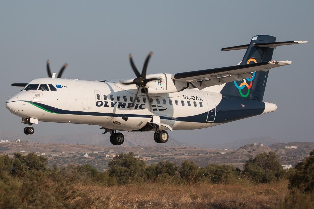 DHC-8 заходит на посадку
