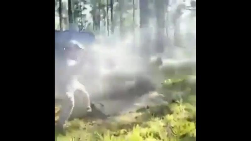 Отстрел полного магазина 50 BMG из Barret в автоматическом режиме огня.
