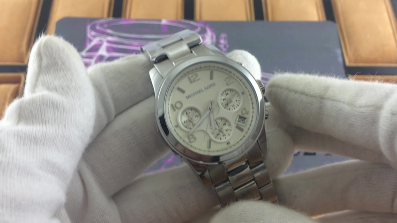 Michael Kors Mid Size Silver Tone