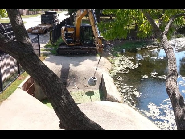 Removal of the Sutton Place HOA dam in Garland Texas